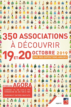 Affiche du forum AGORA, forum des associations à Angers - PARC DES EXPOSITIONS