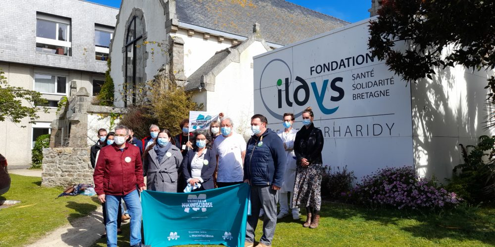 réception avec la fondation Ildys à Parharidy